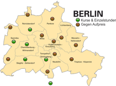 Berlin map mit Kosten